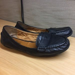 7d75c19ba Lucky Brand Shoes - Black Lucky Brand Penny Loafer Flats - 7.5